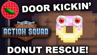 DONUT RESCUE SQUAD + TACTICALICIOUS ACTION! – Door Kickers: Action Squad (Steam Release Co-op)