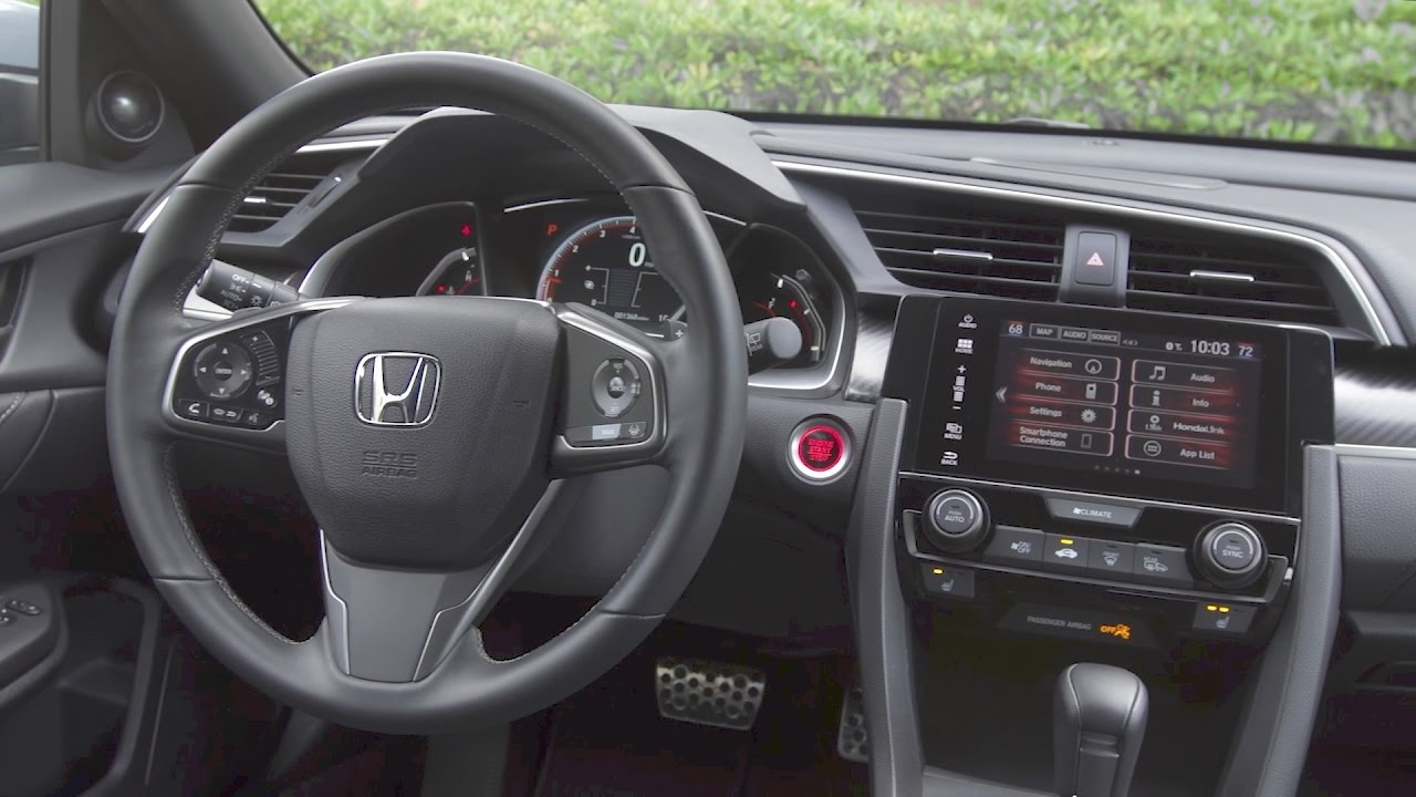 2017 Honda Civic Hatchback Interior Youtube