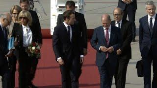 Macron arrives in Hamburg for G20