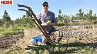 Planting Ambrosia Sweet Corn with the Hoss Garden Seeder