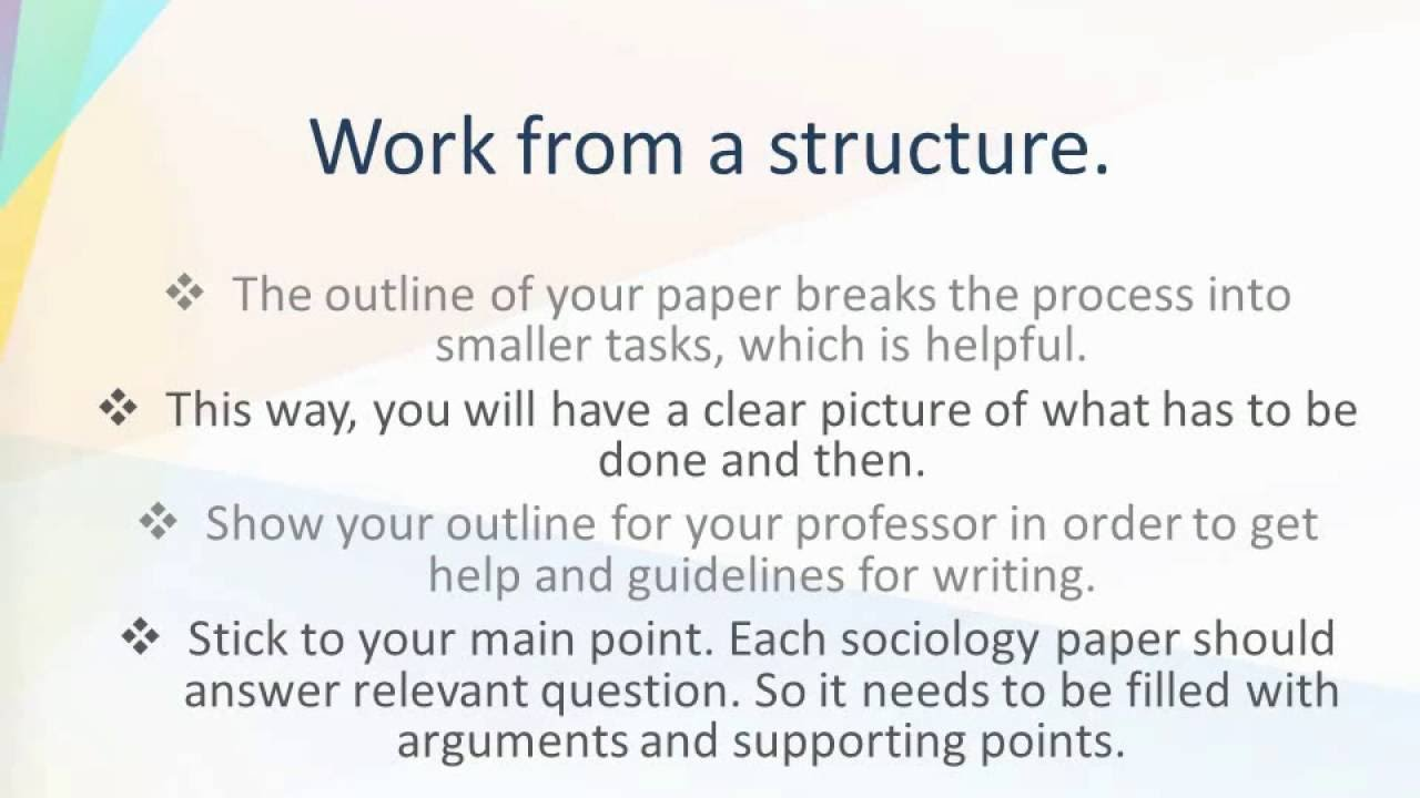 Example Of A College Essay Paper How To Write A Sociology Essay How To Write An Essay For High School Students also Thesis Statements For Persuasive Essays How To Write A Sociology Essay  Youtube Example Of An Essay Paper
