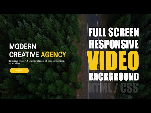 Fullscreen And Responsive Video Background With HTML & CSS