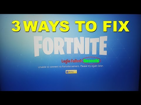 [SOLVED ✔️] 3 WAYS TO FIX LOGIN FAILED ERROR FORTNITE BATTLE ROYALE