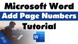 How to add page numbers to Microsoft Word Document