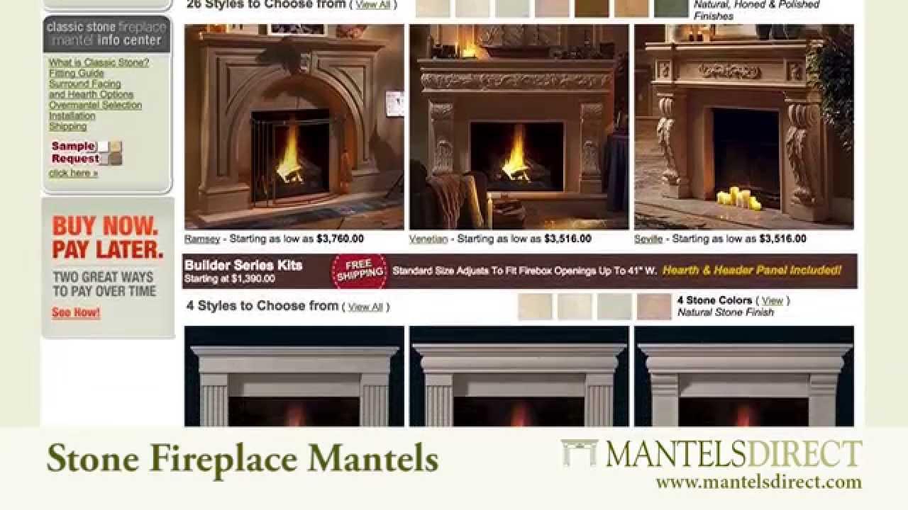 cast stone fireplace mantels mantelsdirect com youtube