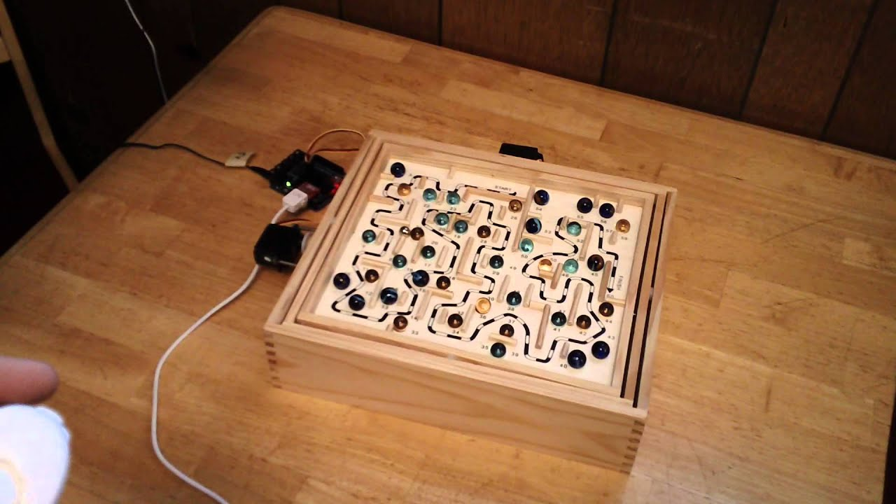 Arduino controlled labyrinth marble maze game w wii