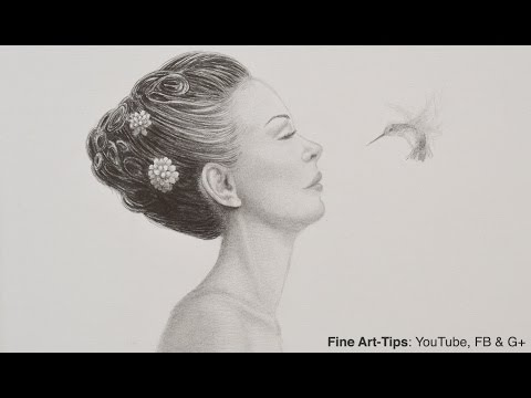 How to Draw a Woman in Profile - Hummingbird and Girl
