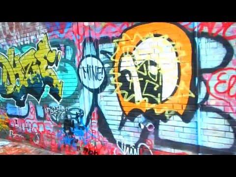"A Walk Through Modica Way ""Graffiti Alley"" in Cambridge Mass 05/07/2016"