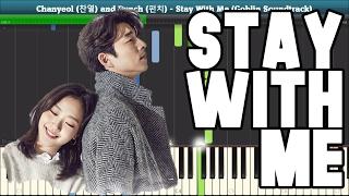 Video Stay With Me Piano Tutorial - Free Sheet Music (Goblin Soundtrack) download MP3, 3GP, MP4, WEBM, AVI, FLV Januari 2018