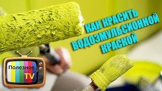 видео Как красить стены валиком: советы мастера