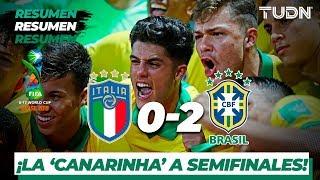 Resumen y Goles | Italia 0 - 2 Brasil | Mundial Brasil Sub-17 - Cuartos | TUDN
