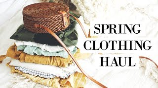 SPRING TRY-ON CLOTHING HAUL | allanaramaa