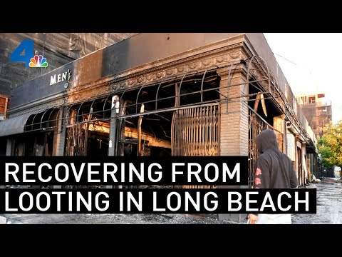 Long Beach Resident Describes Damage Left by Looters | NBCLA