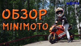 видео Детский бензиновый мотоцикл NEW Минимото MOTAX 50 сс в стиле Ducati