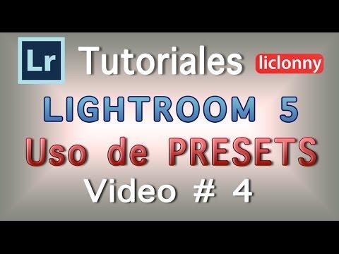Tutorial Lightroom 5 Presets. 4 ¿Cómo aplicar Ajustes de Revelado a Fotografías?. liclonny from YouTube · Duration:  16 minutes 44 seconds