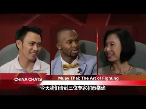 Master Din and Lanna Fighting Team in China Chat TV.