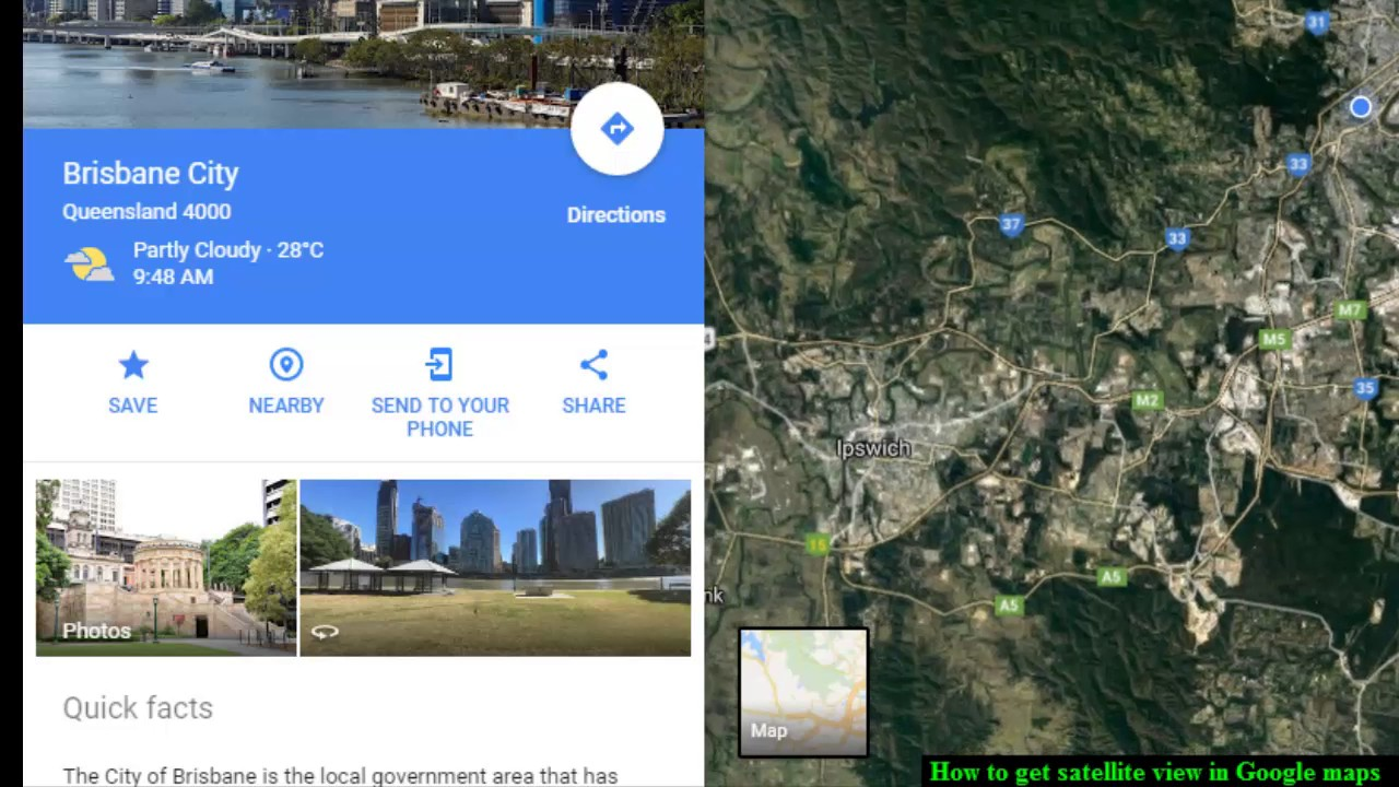 How to get satellite view in Google maps   YouTube How to get satellite view in Google maps