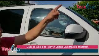Llega el cuerpo de la joven Valeria Cruz Medel a Minatitlán