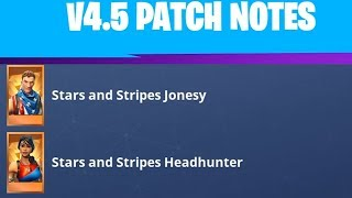 FortNite 4.5 Patch Notes - Stars and Stripes - Super Shielder - Collection book