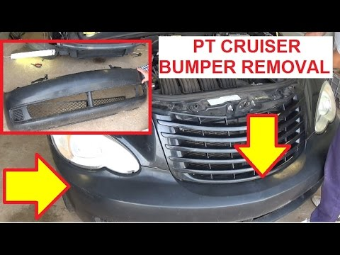 Chrysler Pt Cruiser Front Bumper Removal And Replacement Youtube