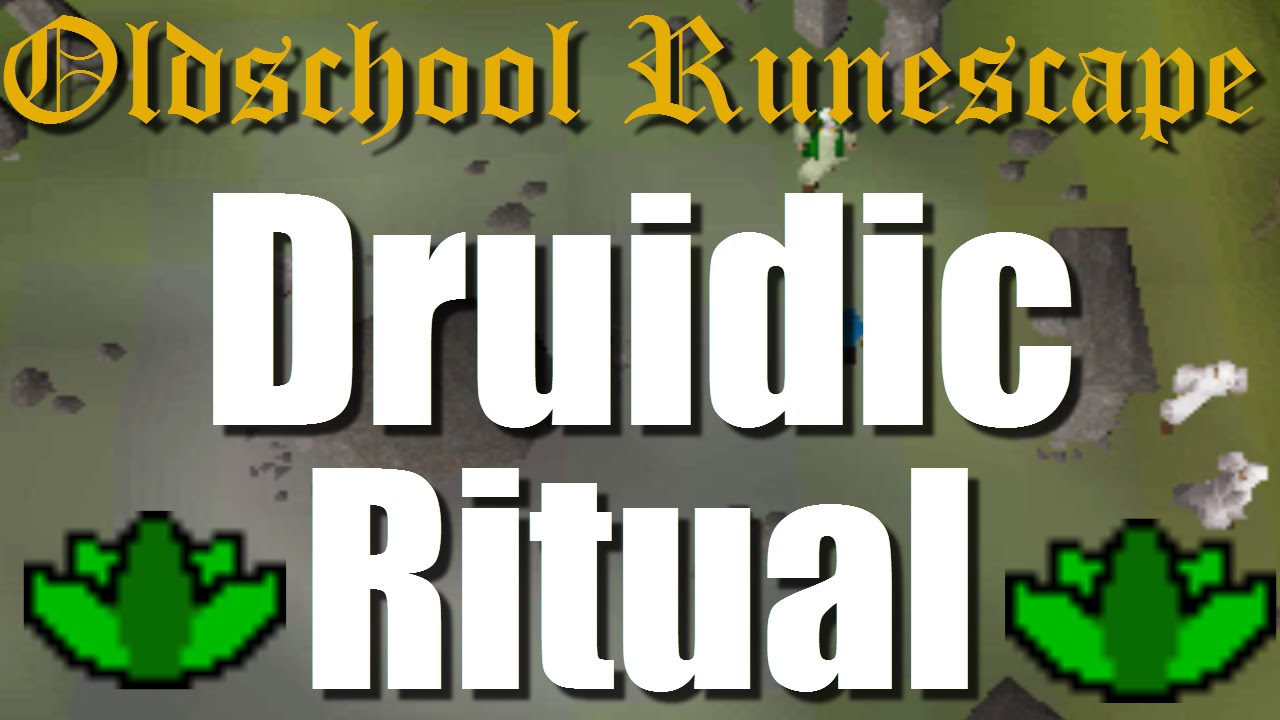 Osrs Druidic Ritual Quest Guide Herblore Youtube