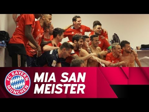 We are champions! Party in the FC Bayern locker room w/ Müller, James & More! #MiaSanMeister