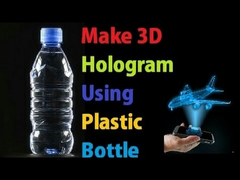 Use Plastic Bottle as an 3D Holographic Display | Turn your Smartphone into a 3D Hologram | 4K☑️