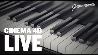 Cinema 4D - Make Piano Keys With Cinema 4D And A Mograph Cloner.