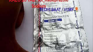 RAZO 20 TAB. Rx_Rabeprazole sodium use & side effect