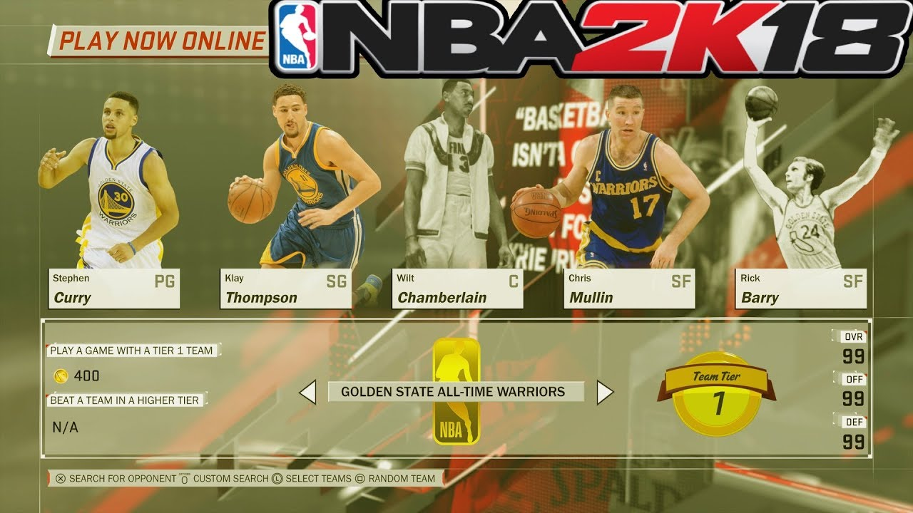 NBA 2k18 Play Now Online Ranked All-Time Warriors Vs  All-Time Lakers Klay  Thompson Catches Fire