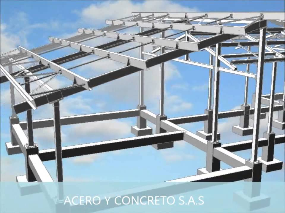 Estructura metalica acero y concreto sas youtube for Techos metalicos para casas