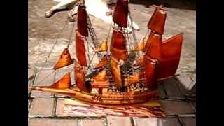 Ships Models, Intarsia (wood Inlays),  Carvings,  And Pyrography