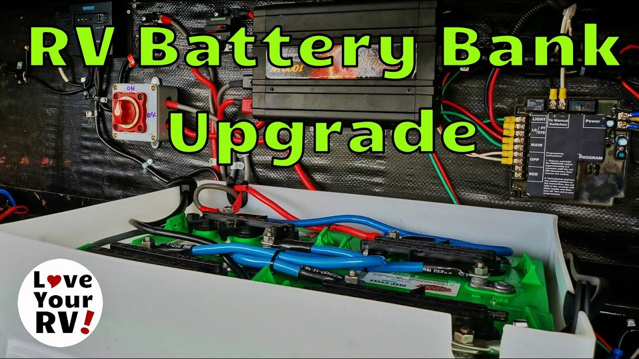 rv battery bank wiring diagram nissan diagrams upgrading my for dry camping youtube