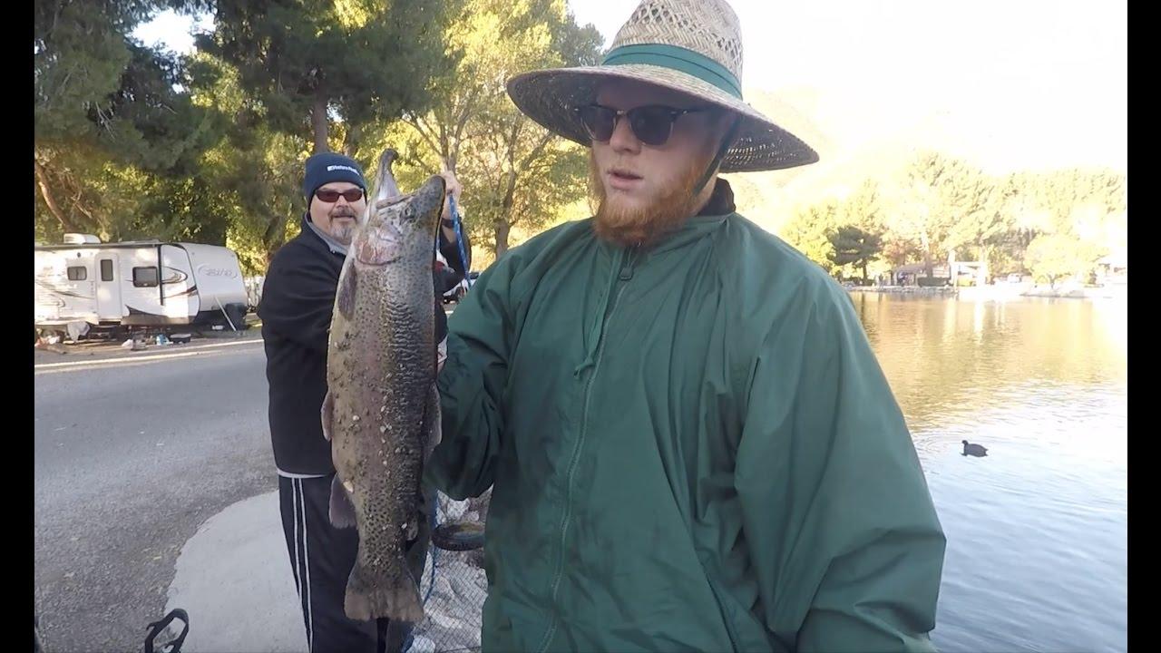 Trout Fishing At Lytle Creek Lake Southern California