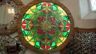 Mosaic wall hanging based on flower of life ( sacred geometry)