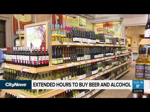 Hours extended at LCBO, Beer Store and alcohol retailers