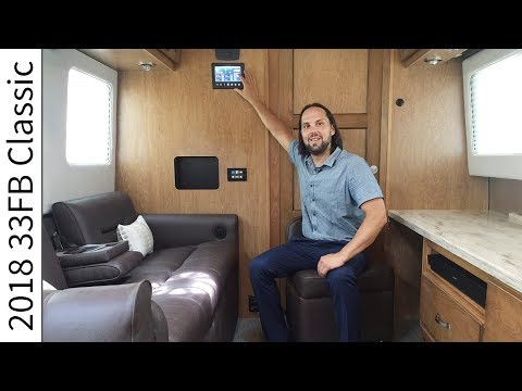 Walk Through 2018 33FB Classic Airstream Luxury Travel Trailer RV Camper