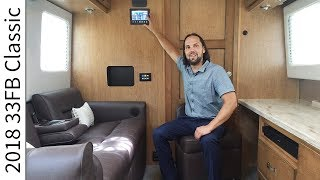 Walk Through 2018 33FB Classic Airstream Luxury Travel Trailer RV Camper