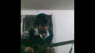 zara sa jhoom loon main on guitar with karaoke