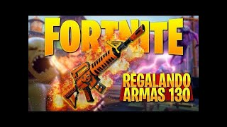GIFTING 130 EXCLUSIVE WEAPONS IN FORTNITE:SAVE THE WORLD!! | Adrimaster16