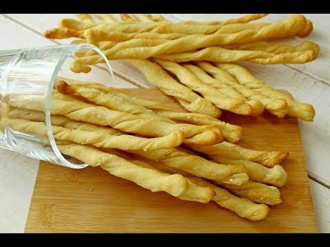 ГРИССИНИ - Хлебные палочки на пшеничной закваске или ее остатках  / Рецепт Grissini без дрожжей