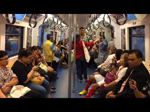 BTS Skytrain Bangkok Thailand #Travel #NightLife #Sightseeing #EatingOut #StreetFood #Holiday #Walk