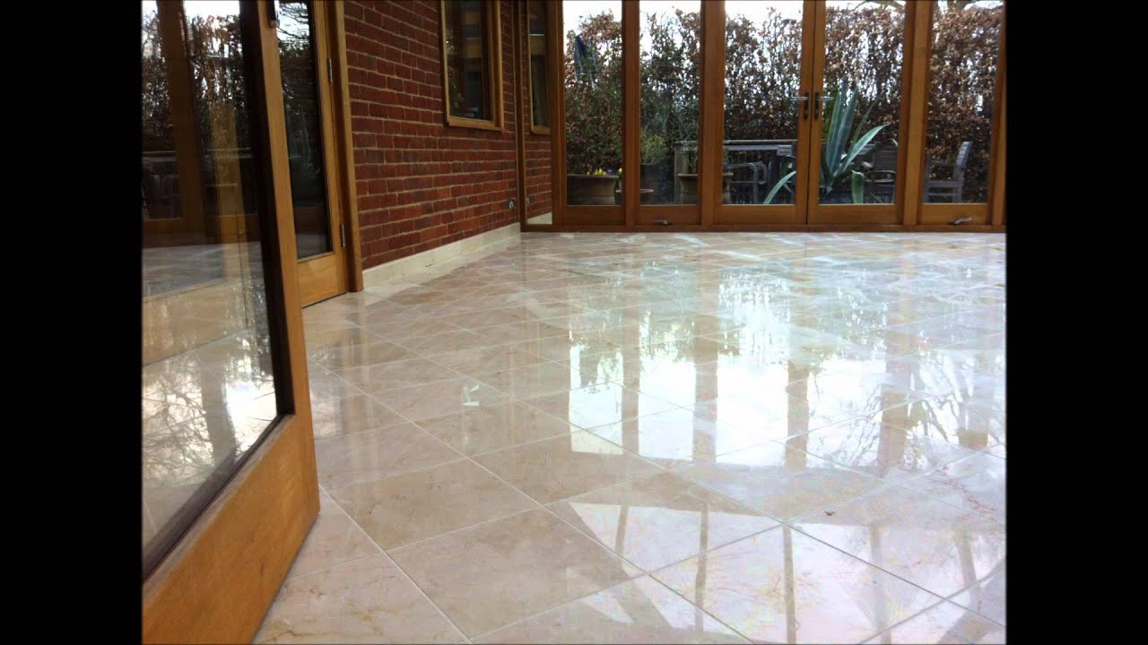 Marble Conservatory Floor Cleaning Polishing Sealing Hampshire Youtube