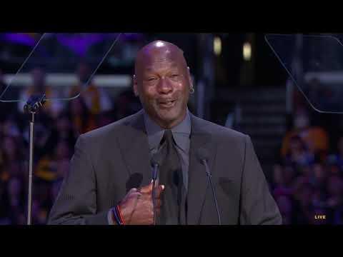 Michael Jordan Jokes About His Crying Meme During Kobe Bryant Eulogy