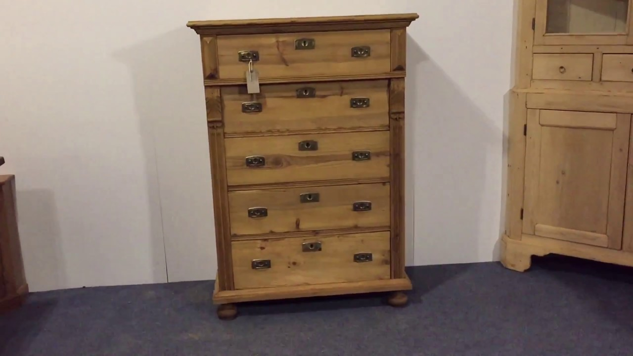 Antique Pine Danish Chest of Drawers - Pinefinders Old Pine Furniture  Warehouse - Antique Pine Danish Chest Of Drawers - Pinefinders Old Pine
