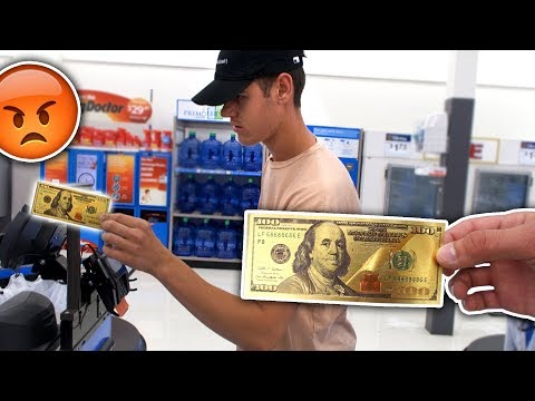USING FAKE MONEY AT WALMART PRANK (ILLEGAL)