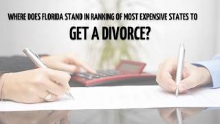 Where does Florida Stand in Ranking of Most Expensive States to Get a Divorce