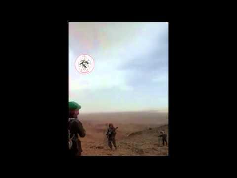 "Syria, Homs, Palmyra - Syrian Arab Army ""Hamza Group"" on Mazar Mountain"