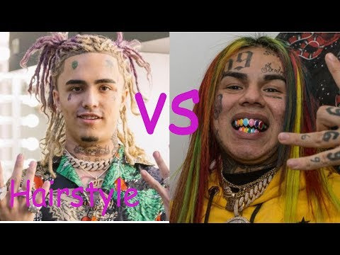Lil pump hairstyle vs Tekashi 6ix9ine hairstyle (2018)