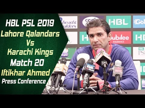 HBL PSL 4 | Match 20 Lahore Qalandars Vs Karachi Kings Post Match Press Conference | Iftikhar Ahmed